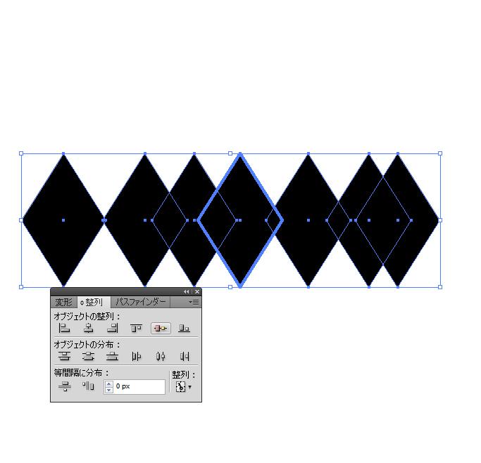 Illustratorでオブジェクトをピッタリくっつけるチュートリアル002